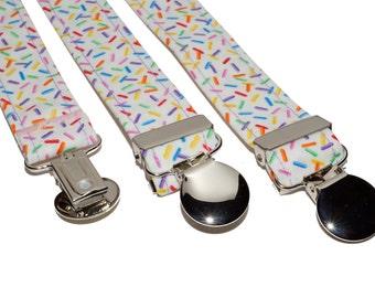Suspenders - Colorful Sprinkles Adjustable Suspenders