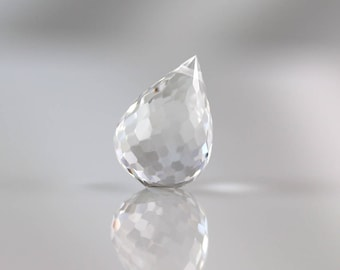 Crystal Quartz Drop - 17mm - Crystal Quartz - Briolette