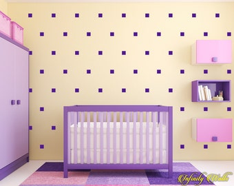 Squares Wall Decor Decals - Gold Squares Decal Set - Pattern Decals - Nursery room decor - Squares Wall Decals