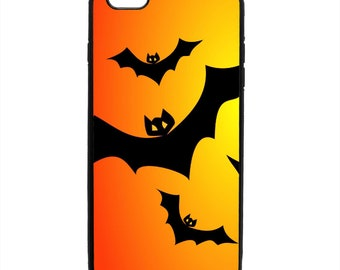 Festive Halloween Bats Flying Print Phone Case Samsung Galaxy S5 S6 S7 S8 S9 Note Edge iPhone 4 4S 5 5S 5C 6 6S 7 7S 8 8S X SE Plus