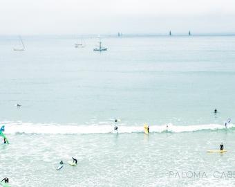Surfers in Santa Cruz, California