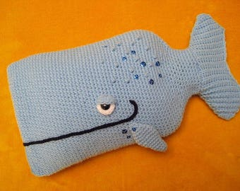 Whale Hot Water Bottle Cover PDF Crochet PATTERN Cosy PJ Pyjama Case