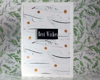 BEST WISHES Greeting Card 5x7