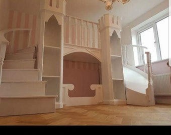 Curved princess bed