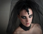 Halloween, Goth, Alternative, Black Veil, Wedding