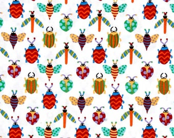 Creepy Crawlies Pesky Michael Miller Fabric  Cotton Quilt Fabric   By the  Yard