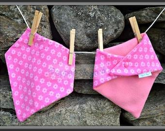 Pink Flowers Bandanna Baby Bib