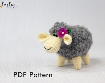 Free Amigurumi Lamb : Crochet sheep pattern amigurumi sheep crochet lamb toy