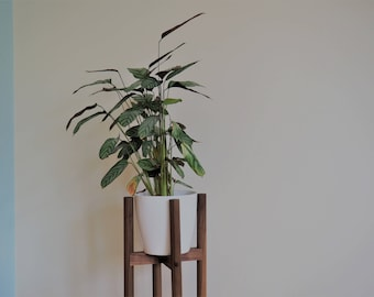 Mid century plant stand, Modern plant stand, Retro plant stand, Planter stand, Wooden plant stand, Plant raiser, wood plant stand, pot stand