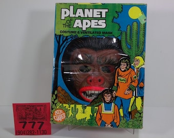 1970's Ben Cooper Planet of the Apes Halloween Costume and Box-Warrier