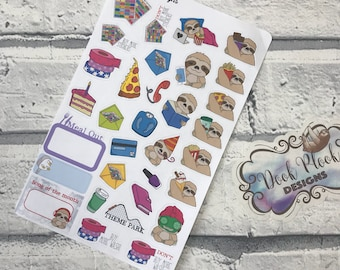 Beths Special Birthday Sticker Sheet for Erin Condren, Plum Paper, Filofax, Kikki K (DPDNAT)