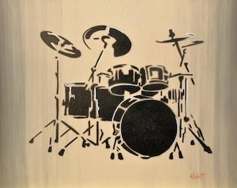 """Acrylic painting on wood """"ESTUDIO III"""""""