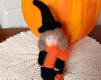 Needle Felted Witch