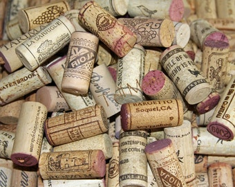 WINE CORKS 200 Used All Natural Wine Corks for Crafting Projects... NO Synthetic Plastic or Champagne Corks included