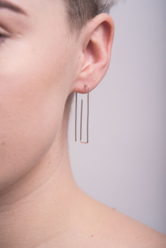 Paperclip ear threads