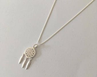 Sterling Silver necklace with Dream Catcher charm