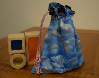 Rainbow Clouds Drawstring Toy Bag/Dice Bag/Pouch