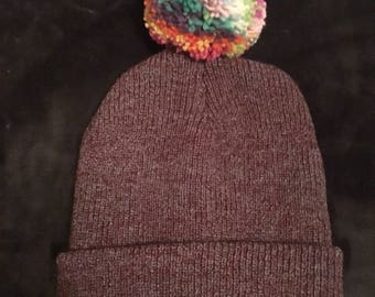 Pom Pom beanie hats (2 colours)