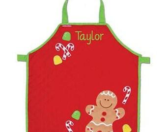 Christmas Apron for Kids, Kid's Apron, Holiday Apron, Apron, Christmas Gift, Christmas Apron, Gingerbread, Snowman, Reindeer, Christmas Tree