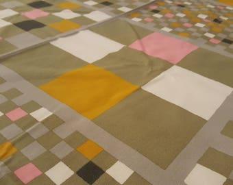 """Sven Fristedt - Vintage cotton fabric - """"Rutin"""" - Borås Textil - 1980s - 146x210cm / 57.5x82.5"""" (T43)"""