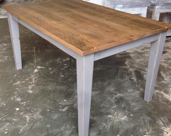 Reclaimed, Salvaged , Solid Wood, Dining Table, Vintage,  Rustic, Shabby Chic,