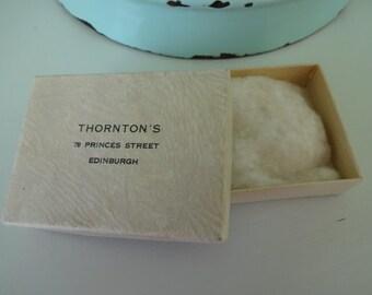 Antique Vintage Empty Cardboard Thorntons of Edinburgh Jewellery Box