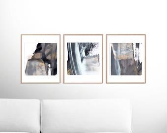 set of 3 prints abstract art print set 3 abstract prints