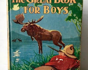 The great book for boys - tense moments  - edited by herbert strang published by oxford books - great condtion 1929