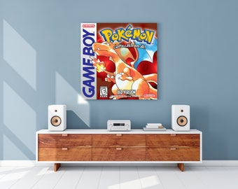 Pokemon Red Gameboy Cover Canvas Print