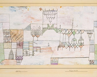 Paul Klee: Great Hall for Singers. Fine Art Print/Poster (5005)