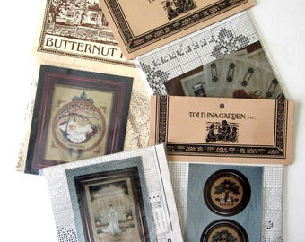 Told in a Garden  Counted Cross Stitch Patterns CHOICE by Marilyn Leavitt-Imblum Butternut Road
