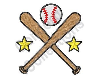 Baseball Star Machine Embroidery Design