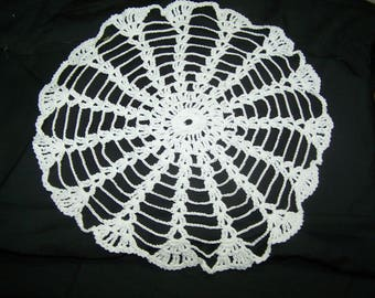 "Hand-crocheted Doily 12"" ROUND FINISHED"
