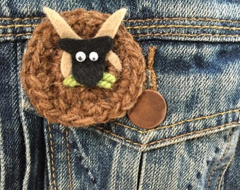Manx Loaghtan Sheep Badge