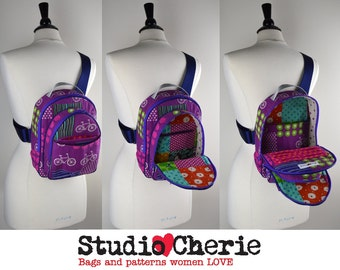 How to Make Sling Style Back Packs Instant  Download sewing pattern