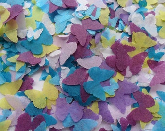 Under the Sea Blue Purple Green Biodegradable Tissue Paper Butterfly Confetti Mix Wedding Party