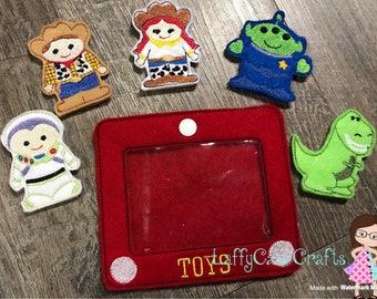 Handmade 6 Piece Toys Felt Finger Puppet Set ~ Finger Puppets ~ Finger Puppet ~ Puppets ~ Puppet ~ Puppets Set ~ Toy Story Inspired