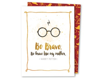 Be Brave - Parenting Support Noble Greeting Card