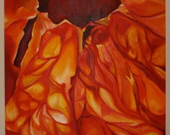Large Orange fruit Oil Painting Giclee print