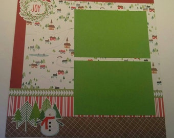 2-Page Christmas Scrapbook Layout, Premade
