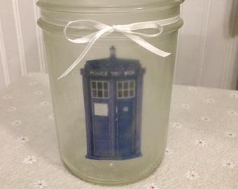 Frosted TARDIS Lantern