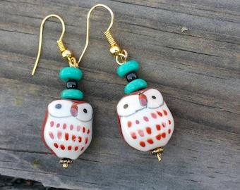 What a hoot! Owl dangle earrings