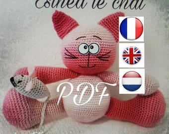 """PDF pattern """"ESINED cat and mouse"""" available in French, English and Dutch :-)"""