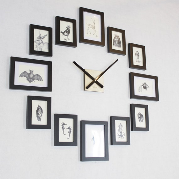 Photo Picture Frame Wall Clock Modern 12