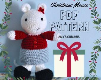 Amigurumi Pattern Christmas Mouse
