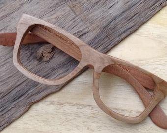 customized prescripiton America cherry wood handmade Takemoto WALKER2014 eyeglasses