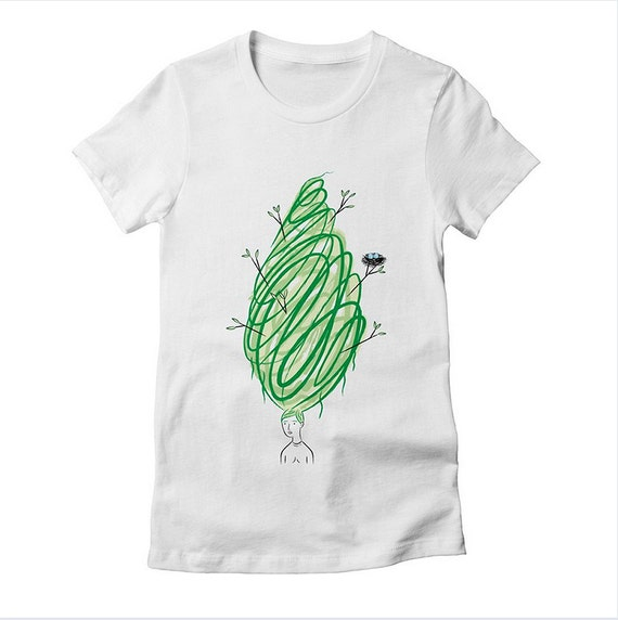 Let It Grow - women's fitted T-shirt - women's tee by Oliver Lake - iOTA iLLUSTRATiON