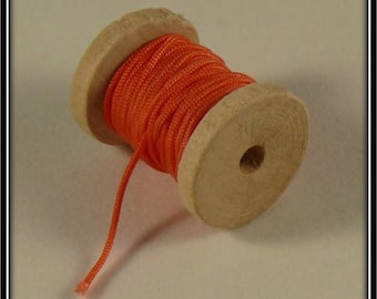 5 meters of nylon thread 1 mm coral color