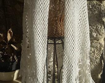 Vintage /Vintage hook crocheted shawl crochet shawl