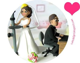Wedding Cake Topper - CUSTOM cake topper, FUNNY cake topper, wedding topper, wedding toppers, cake toppers wedding, laptop cake topper